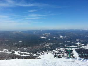 Шерегеш. Вид с горы Зеленая.